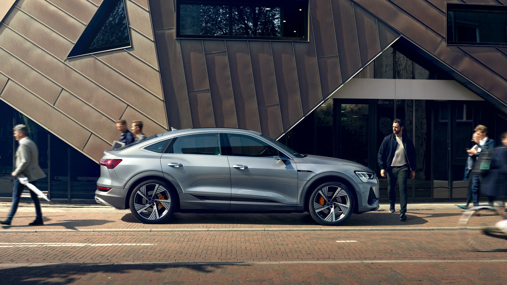 Audi e-tron Sportback in a city